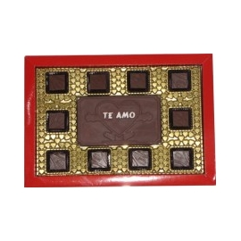 Caixa 10 BB com Placa Pequena Berço com detalhes de coração