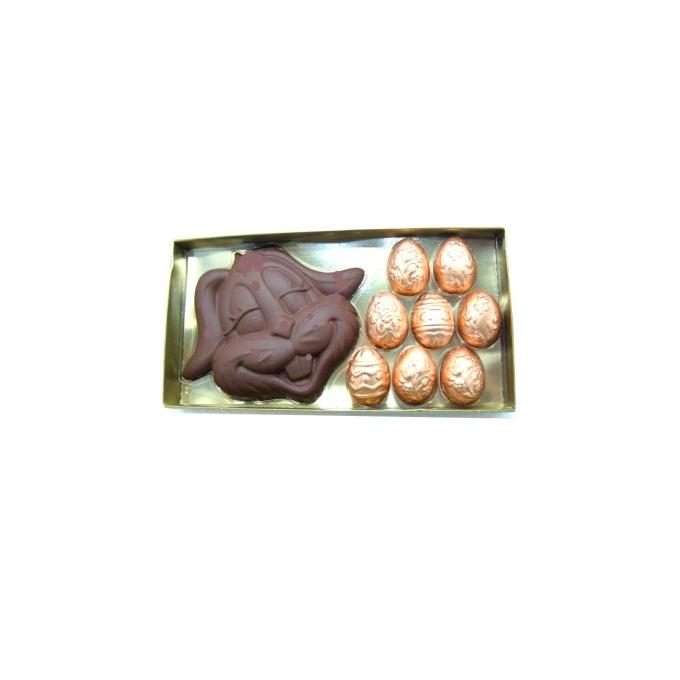 Caixa cara coelho + 8 ovos