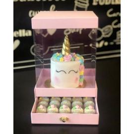 Caixa para bolo + gaveta