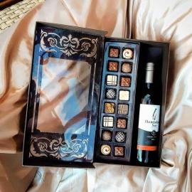 Caixa para vinho ou espumante + 16 BB