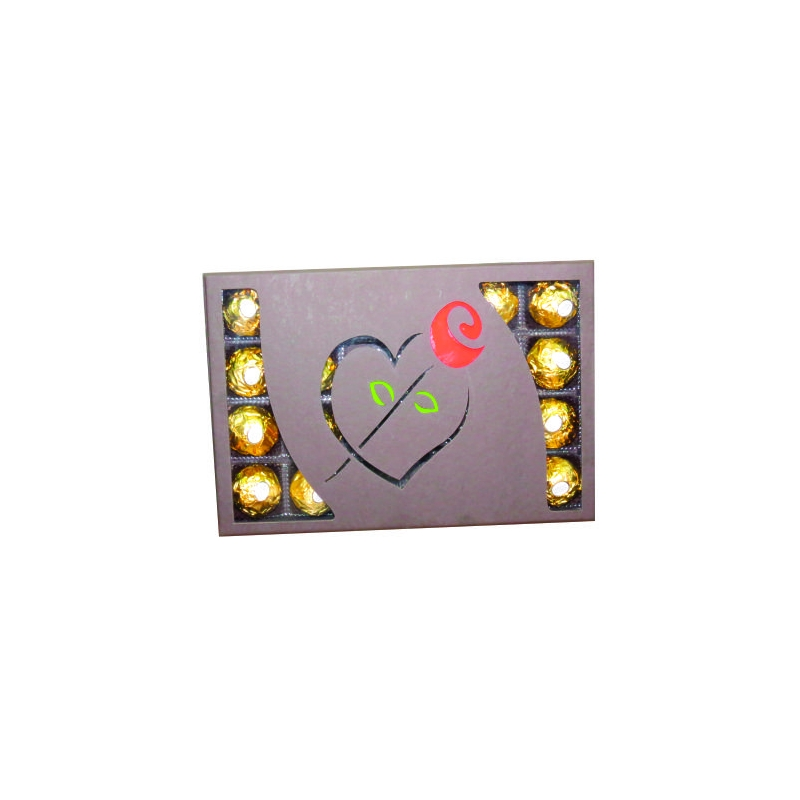 Caixa 24 BB Coração Flor